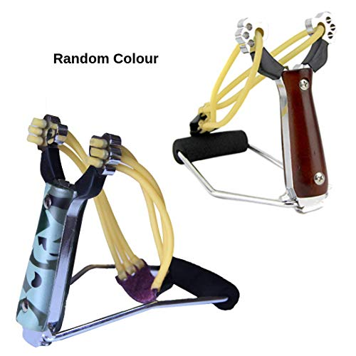 The Racheal Collections Professional Sling shot Set Wrist Rocket Slingshot Hunting Y Shot Slingshot With Heavy Duty Rubber Bands High Velocity Catapult