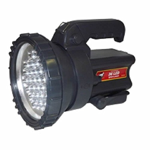 Big Led Battery Operated Rechargeable Hand Spot Light Lamp Spotlight Flashlight (4ah 12v Ac Battery)