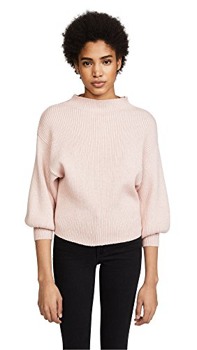 Sweater Ribbed Ballet - Line & Dot Women's Alder Sweater, Ballet Pink, Large