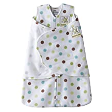 Halo Innovations SleepSack Swaddle Micro-Fleece Multi-Color Dot, White, Multi, Newborn