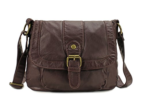 (Scarleton Small Soft Washed Front Pocket Crossbody Bag H169221 - Coffee)