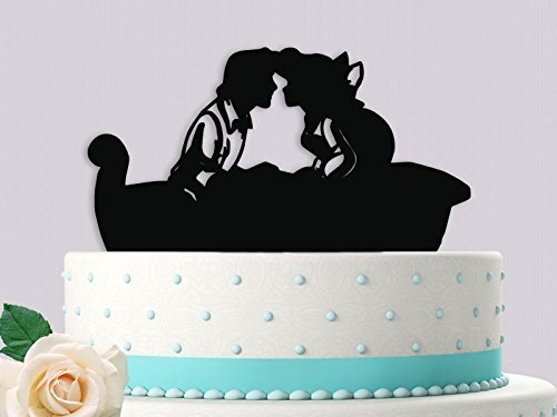 Amazon.com: Ariel and Eric alone in Boat Wedding Cake Topper: Handmade