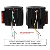 CZC AUTO 12V LED Submersible Left and Right Trailer Lights Stop Tail Turn Signal Lights for Under 80 Inch Boat Trailer Truck RV Marine-Replacement for Your Incandescent Bulb Units, Trailer Light Kit