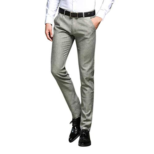 Pierna Pantalon Pants 30 Vert Décontracté Men Suit Business Fit Modernas Léger Plana Manguera Disponible Recta 38 EtSqAvxwx