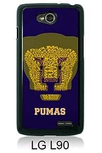UNAM Pumas 1 Black Personalized Photo Custom LG L90 Cover Case