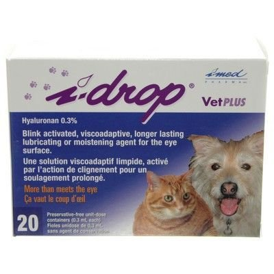 I Drop Vet Plus Eye Lubricant (.30%) - 20 Single Unit Dose Container