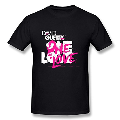 Danielle Men's David Guetta Tshirts Black L (Best Memories David Guetta)