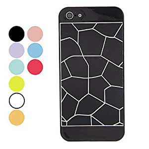Solid Color Crackle Paint Hard Case for iPhone 5/5S (Assorted Colors) --- COLOR:Navy