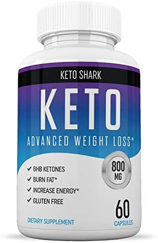 Keto Pills - Diet Supplements That Work - for Women & Men - Induce Ketosis Quicker - Burn Fat Fast - Ketogenic Carb Blocker - Keto Shark - 60 Capsules