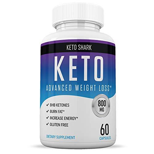 Keto Pills - Diet Supplements That Work - for Women & Men - Induce Ketosis Quicker - Burn Fat Fast - Ketogenic Carb Blocker - Keto Shark - 60 Capsules    (Xt Ultra Powder Natural Protein)