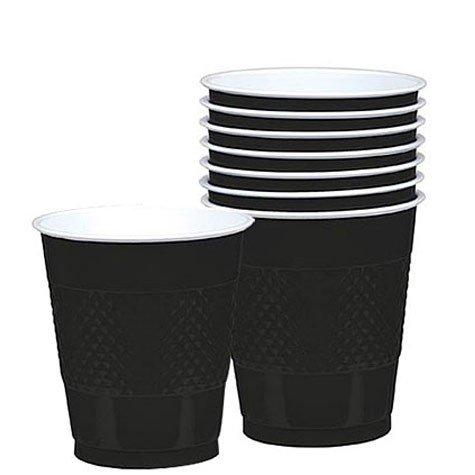 Black 16oz. Plastic Cups 20 per pack