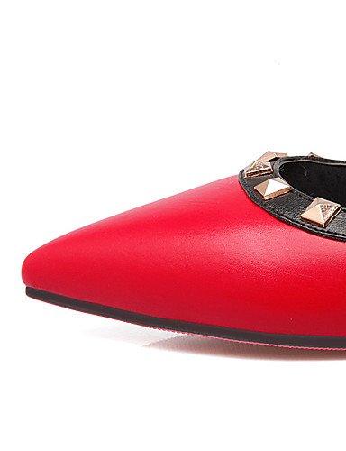 Femmes casual rouge us11 Brevets talons Eu43 Des Chaussures bas Black robe Pointu beige Talons Cn44 Uk9 Partie Noir nbsp;soirée À Ggx Bout amp; Hauts Ijkmn bleu a7Bfx