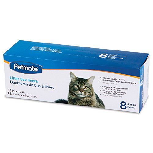 - Petmate Cleanstep Litter Box Liners, Jumbo, 8 Count