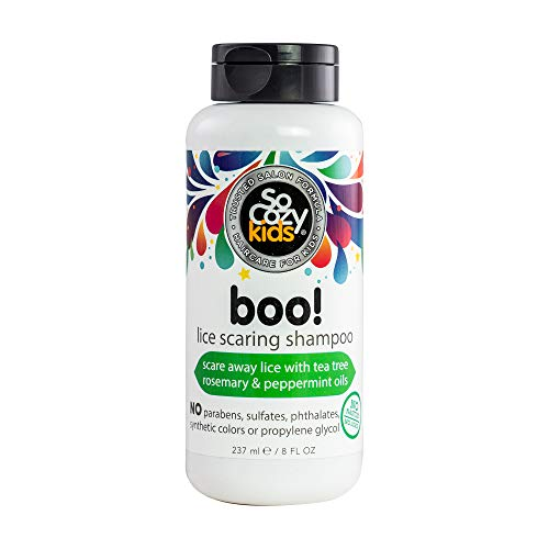 SoCozy Boo! Lice Scaring Shampoo Scares Away Lice... Naturally, 8 Fluid Ounce