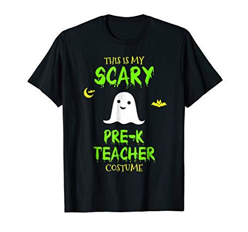 Scary Pre-K Teacher Costume Halloween T-Shirt