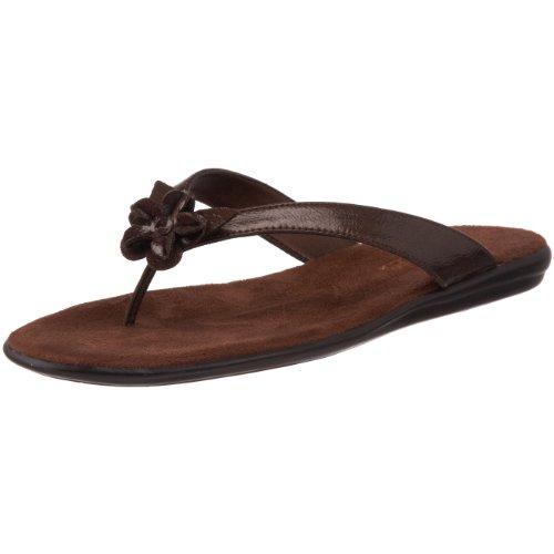 Aerosoles Women's Branchlet Thong Sandal,Brown Patent,11 M US