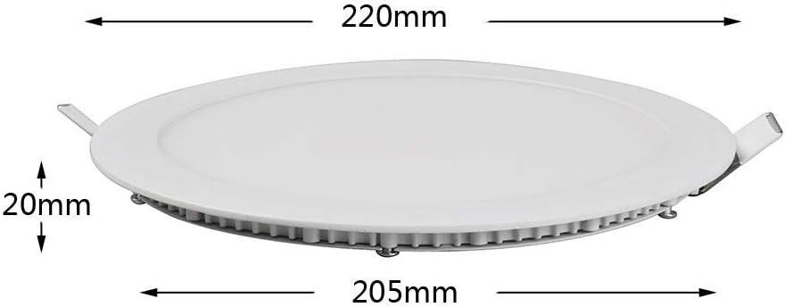 Ultra-Thin Round Flat Panel Light LED18W Warm White Decorative Household Lighting