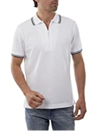 Playera polo manga corta Blanco
