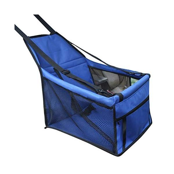 PETCUTE Plegable Mascota Coche Aumentador de Presi/ón Asiento Portador Para el Perrito del Gato del Perro Viajar Al Aire Libre Jaula Asiento Cubrir Portador Con la Correa de Seguridad Azul