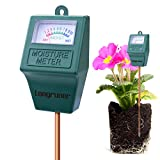 Moisture Meter, Longruner Indoor/Outdoor Soil Moisture Sensor Meter,Soil Water monitor, Hydrometer for Garden, Farm, Lawn Plants (No Battery needed) LKP02