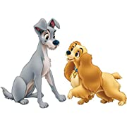 Lady And The Tramp Disney Decal Graphic Wall Sticker Home Decor Art C872, Regular