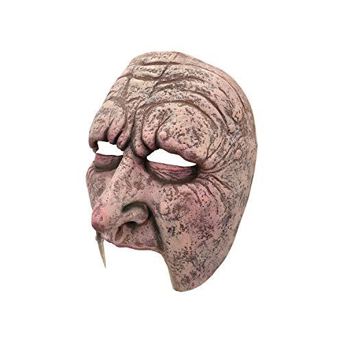Half Face Men Horrific Mask, Halloween Horror Latex