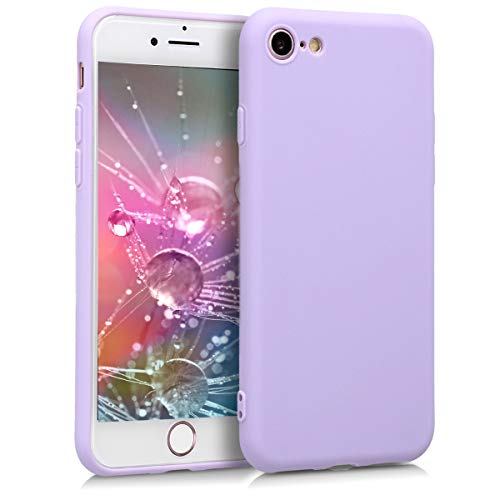 kwmobile TPU Silicone Case for Apple iPhone 7/8 - Soft Flexible Shock Absorbent Protective Phone Cover - Lavender