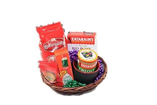 Mardi Gras Starter Gift Basket (Louisiana Food Basket Gift)