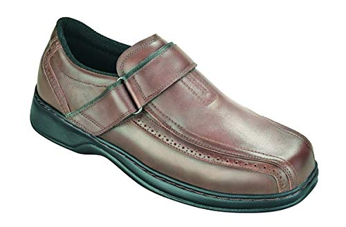 Orthofeet Lincoln Center Comfort Wide Orthotic Diabetic Orthopedic Mens Loafers Brown Leather 9.5 W US