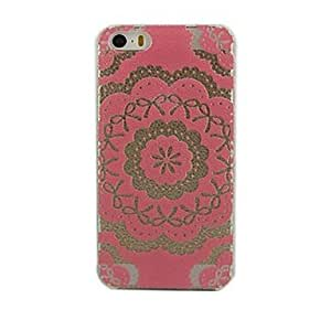 HP DFPink Lace Flower Design Hard Case for iPhone 5/5S