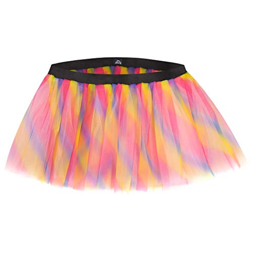 Gone For a Run Runners Tutu Lightweight | One Size Fits Most | Neon Rainbow ()