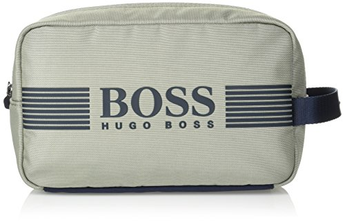 BOSS Green Men's Pixel Nylon Washbag/dob Kit Accessory, -medium grey, One Size by Hugo Boss