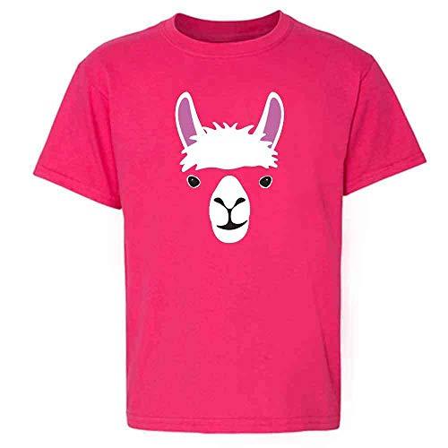 Llama Big Animal Face Cute Funny Pink 2T Toddler Kids T-Shirt]()