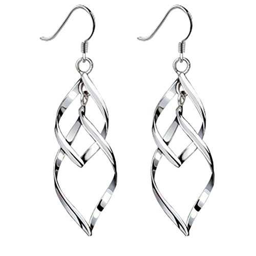 Bassion Womens Classic Double Earrings