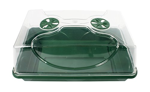 EarlyGrow 70738 Medium Domed Propagator, Black/Dark Green