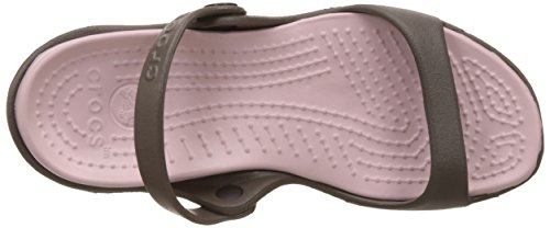 Candy Sandales cotton Chocolate Femme Cleo Bout Crocs Ouvert px6qwF