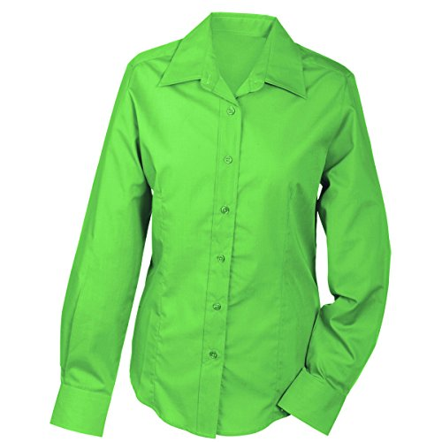 lger JAMES citron NICHOLSON chemisier JN602 amp; chemise facile Femme manches repassage longues vert Hn4HOfqwrx