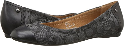 Coach Women's Chelsea Black Smoke/Black Signature Jacquard 8.5 M US