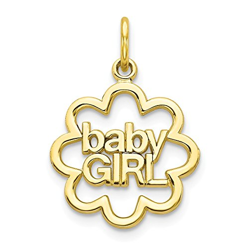 10k Yellow Gold Baby Girl Pendant Charm Necklace Fine Jewelry Gifts For Women For Her