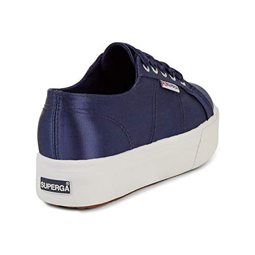 Shoes Satin Navy Womens Superga 2790 Blue p0q6wHx