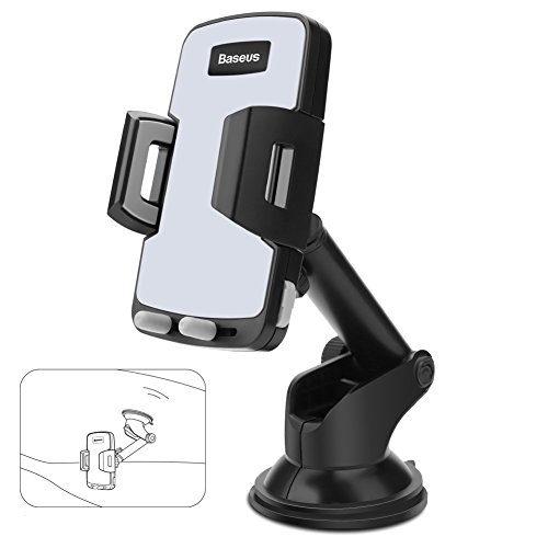 Price comparison product image Baseus Upgraded Dashboard & Windshield Car Mount Holder for iPhone X 8 8 Plus 7 Plus 6s Plus 6 SE Samsung Galaxy S8 Plus S8 Edge S7 S6 Note 8 5SE and More Device