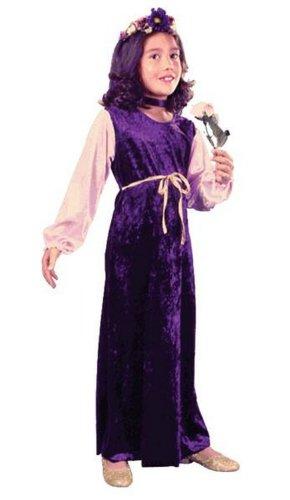 Flower Princess Velvet Costume - Child Coatume - (Flower Princess Velvet Child Costumes)