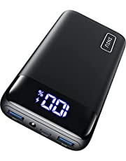 INIU Portable Charger, USB C 20W PD3.0 QC4.0 Fast Charge 20000mAh Power Bank, LED Display Battery Pack with Flashlight Compatible with iPhone 12 11 Pro X 8 Samsung S20 S10 Google LG iPad Tablet etc.