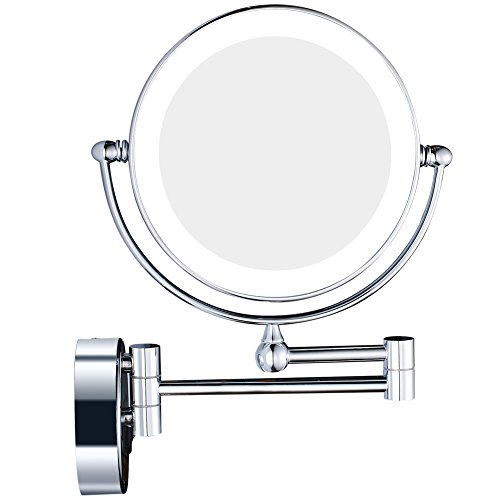 best wall mounted makeup mirrors 2018. Black Bedroom Furniture Sets. Home Design Ideas
