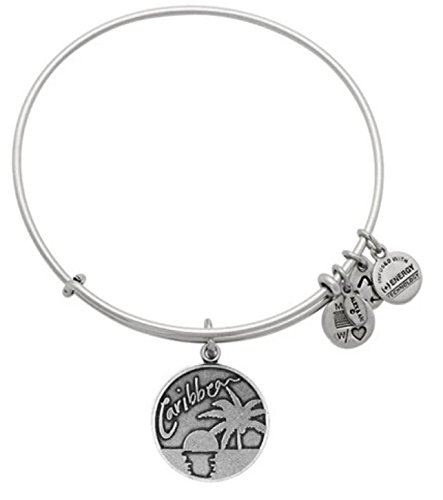 Alex and Ani Caribbean Rafaelian Silver Charm Bangle Bracelet by Alex and Ani