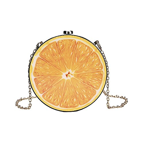 body Bag Pouch Orange Bag Cross QZUnique Shoulder Women's Printed Purse Fruit Tote PU Leather Bag Food Bag Evening OzzTpXqZ
