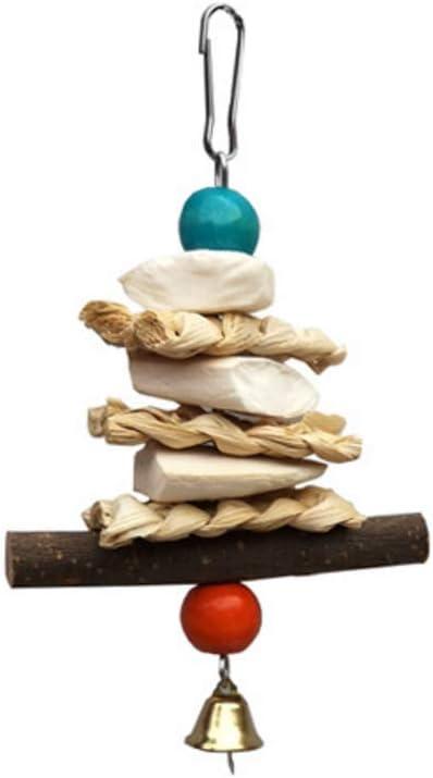 Fagu Loro Juguetes para Masticar Sepia Hueso Hoja de maíz árbol frutal Rama pájaro mordedura Cuerda