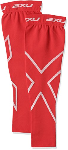 2XU Compression Recovery Arm Sleeves, Red, Small