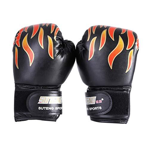 Kids Boxing Gloves Leather Junior Sanda fighting Punch Bag MMA Training Muay Thai Mitts (free, -