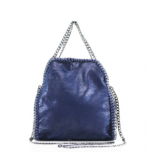 CHAIN Navy Women's Shoulder Hobo Designer Messenger Mini LARGE EDGE Handbag Bag MINI v6I6pwq7